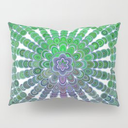 Spring Mandala Wheel Pillow Sham