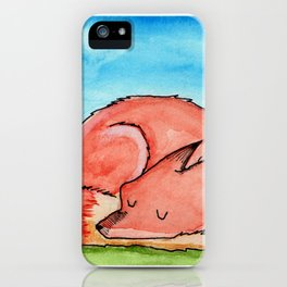 Sleepy fox iPhone Case