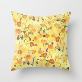 Daffodil Fields Throw Pillow