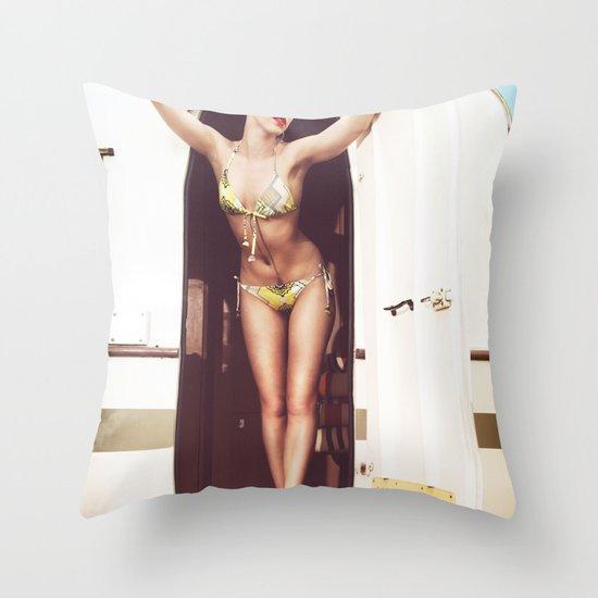 trailer park girl Throw Pillow
