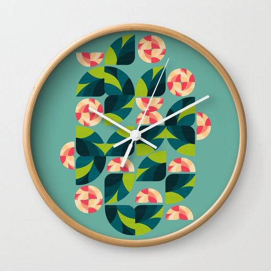 Wild Roses Wall Clock