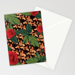 rose with dandelion - variant Stationery Cards