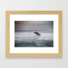 Legend & Pro Surfer Kelly Slater Framed Art Print