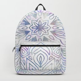 Marble Mandala - Purple Blue Rose Gold Backpack
