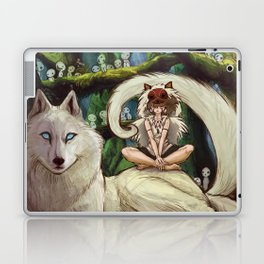 Wolf Princess in the Forest Laptop & iPad Skin