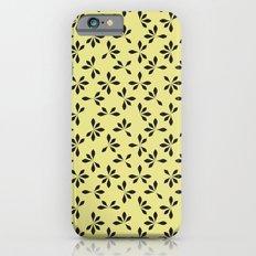 loves me loves me not pattern - banana yellow Slim Case iPhone 6s