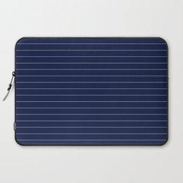 Navy Blue Pinstripe Lines Laptop Sleeve