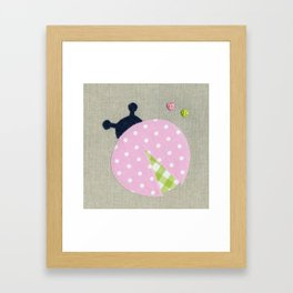 Pink Lady Bug Framed Art Print