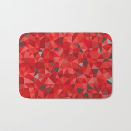 Red and gray triangular pattern - triangles mosaic Bath Mat
