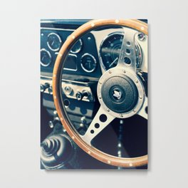 Old Triumph Wheel / Classic Cars Photography Metal Print