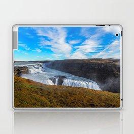 Gulfoss waterfall Laptop & iPad Skin