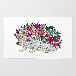 Woodland Hedgehog Illustration Rug