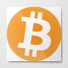 Bitcoin logo - BTC sign 1 Metal Print