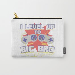 Level Up To Become Brother  Game Gaming  Play Gift Carry-All Pouch