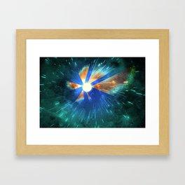 Light Flares Framed Art Print