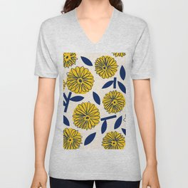 Floral_blossom Unisex V-Neck