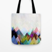 mountain Tote Bags featuring Graphic 104 by Mareike Böhmer