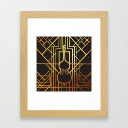 Art Deco Contrabass Framed Art Print