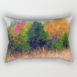 Colorful painted Trees Rectangular Pillow