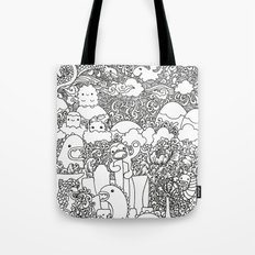 Oodles of Doodles of Singapore (White) Tote Bag