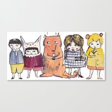Moo Friends Canvas Print