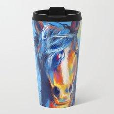 Horse Beauty Metal Travel Mug