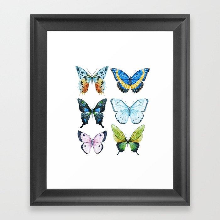 Butterflies 02 Framed Art Print