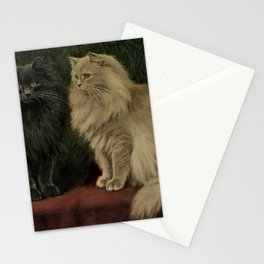 Vintage Persian Cat Illustration (1903) Stationery Cards
