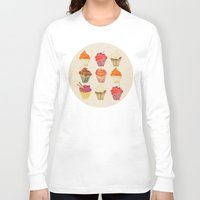cupcakes Long Sleeve T-shirts featuring Cupcakes by Cat Coquillette