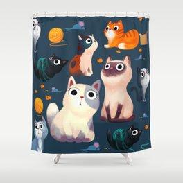 Cat Print Shower Curtain