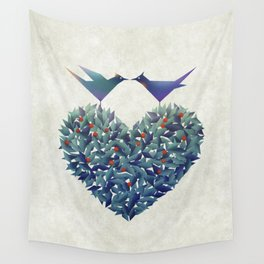 Love Birds Wall Tapestry
