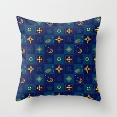 Night Waltz of the planets. Throw Pillow