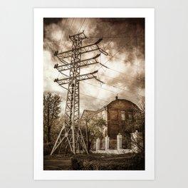 Old Powerstation Art Print