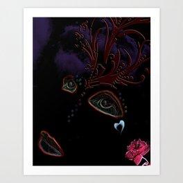 Blackout Woman Art Print