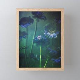 Scabious Blue Framed Mini Art Print