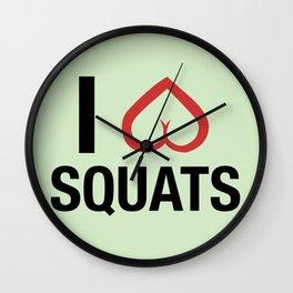 Squat Love Wall Clock