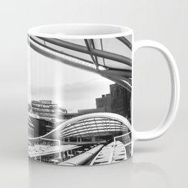 Union Station // Train Travel Downtown Denver Colorado Black and White City Photography Coffee Mug
