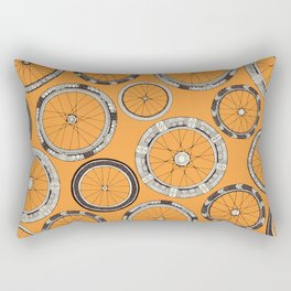 bike wheels amber Rectangular Pillow