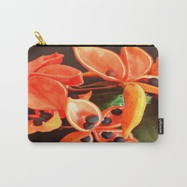 STUNNING ORANGE BLOOMS Carry-All Pouch