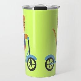 Tiger on Scooter Travel Mug