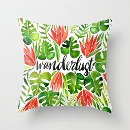 Tropical Wanderlust – Watermelon Palette Throw Pillow
