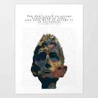 kafka Art Prints featuring Kafka by Ned & Ems