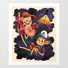 Mystery Twins Art Print