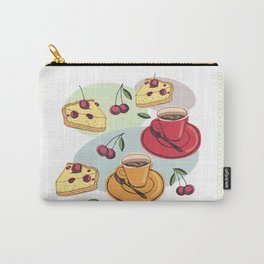 Cherry Pie And A Hot Cup Of Coffee Carry-All Pouch