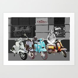 Twiggy at the Scooter Rally Art Print