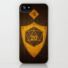d20 Case of Warding +5 iPhone Case
