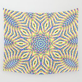 Kaleidoscope Colourful Stripes Wall Tapestry