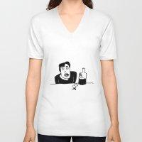 vodka V-neck T-shirts featuring Vodka by Ehud Neuhaus