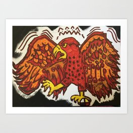 Four directions RedHawk Art Print
