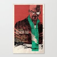 breaking bad Canvas Prints featuring Breaking bad by Toni Infante